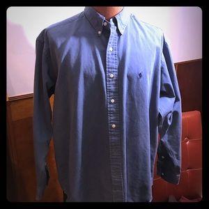 Blue Blue Slate Blue Ralph Lauren Polo Dress
